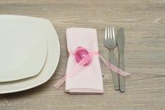 复活节的一个餐位餐具 免版税图库摄影