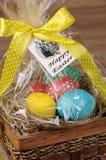 复活节的礼物篮子 免版税库存图片