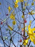 复活节结构树 免版税库存图片