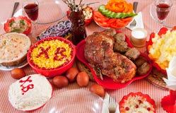 复活节膳食 库存图片