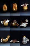 复活节被吃的蛋罪状 免版税库存照片