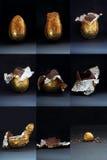复活节被吃的鸡蛋 免版税库存图片