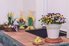 复活节装饰在波茨坦 免版税图库摄影