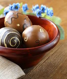 复活节装饰鸡蛋 图库摄影