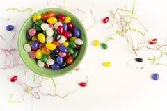 复活节软心豆粒糖 库存照片