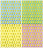 复活节黄色小鸡纹理汇集 库存图片