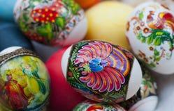 复活节pisanki鸡蛋 库存图片
