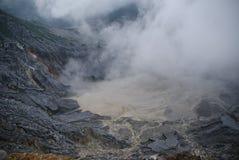 复舟火山火山口在万隆,印度尼西亚 库存照片