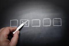 复选框黑板-概念 免版税库存照片