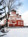 复活大教堂在冬天,晴天 库存照片