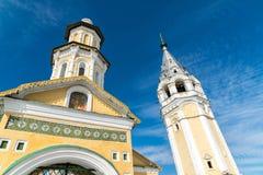 复活大教堂在Tutaev,俄罗斯 金黄圆环旅行 免版税库存图片