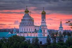 复活新耶路撒冷修道院早晨 免版税库存照片