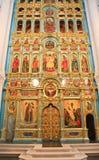 复活的大教堂的法坛 2007第23个耶路撒冷6月修道院新的俄国 免版税图库摄影