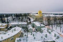 复活的教会在凯瑟琳宫殿在Tsarskoye 免版税库存图片