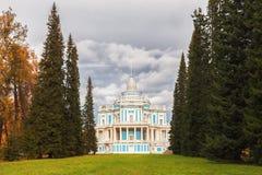 复活的教会在Tsarsk凯瑟琳宫殿  免版税库存图片