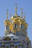 复活的教会的圆顶在凯瑟琳宫殿 Tsarskoye Selo 免版税库存照片