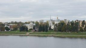 复活的教会,那伏尔加河 免版税库存图片