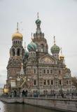 复活的教会(在溢出的血液) 免版税图库摄影