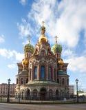 复活耶稣基督的教会在圣彼德堡,俄罗斯 免版税图库摄影