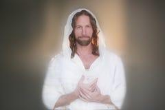 复活节上升的祷告Handsers面包 免版税库存照片