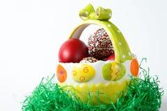 复活节上色了鸡蛋 库存照片