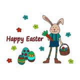复活节传统标志卡片 复活节乱画 库存照片