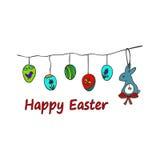 复活节传统标志卡片 复活节乱画 免版税库存图片