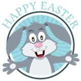 复活节兔子兔子贺卡 免版税库存照片