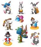复活节兔子动画片 库存例证
