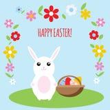 复活节兔子卡片 免版税库存图片