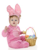 复活节兔子吹口哨 库存图片
