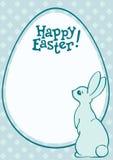 复活节兔子和蛋假日明信片 免版税库存图片