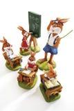复活节兔子在学校 免版税库存图片