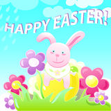 复活节兔子桃红色 库存照片