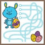 复活节兔子比赛 免版税库存图片