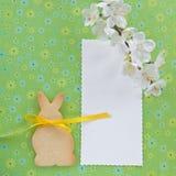 以复活节兔子的形式曲奇饼 图库摄影
