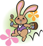 复活节兔子蛇麻草 库存照片