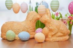 复活节兔子蛋糕 库存照片