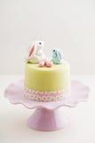 复活节兔子蛋糕 图库摄影
