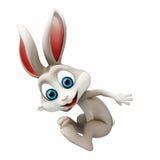 复活节兔子跳跃 免版税库存照片