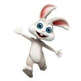 复活节兔子跳跃 免版税库存图片