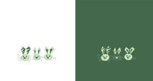 复活节兔子集合 免版税图库摄影