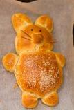 复活节兔子面包 免版税库存照片