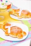 复活节兔子面包 免版税库存图片