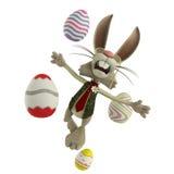复活节兔子飞行 免版税库存图片