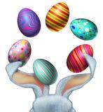 复活节兔子鸡蛋 免版税库存照片