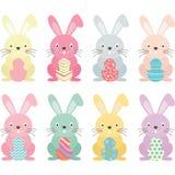 复活节兔子,被设置的复活节彩蛋 库存例证