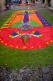 复活节地毯在安提瓜岛危地马拉 免版税库存图片