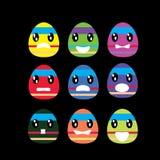 复活节墙纸的五颜六色的蛋动画片 库存照片