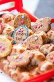 复活节姜面包人 库存照片